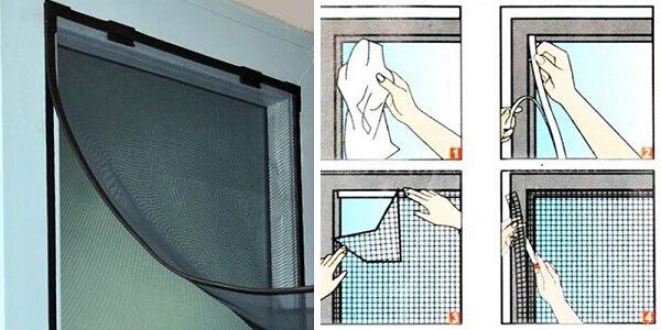 Lắp đặt lưới chống muỗi